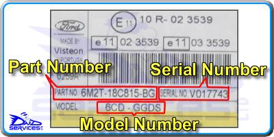Trouver le numéro de série d'un autoratio ford V6000 V7000