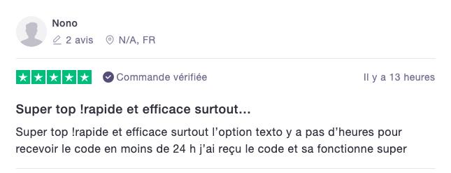 Avis code autoradio france