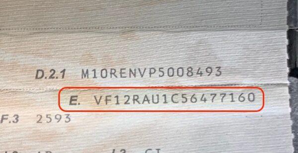 code vin renault captur